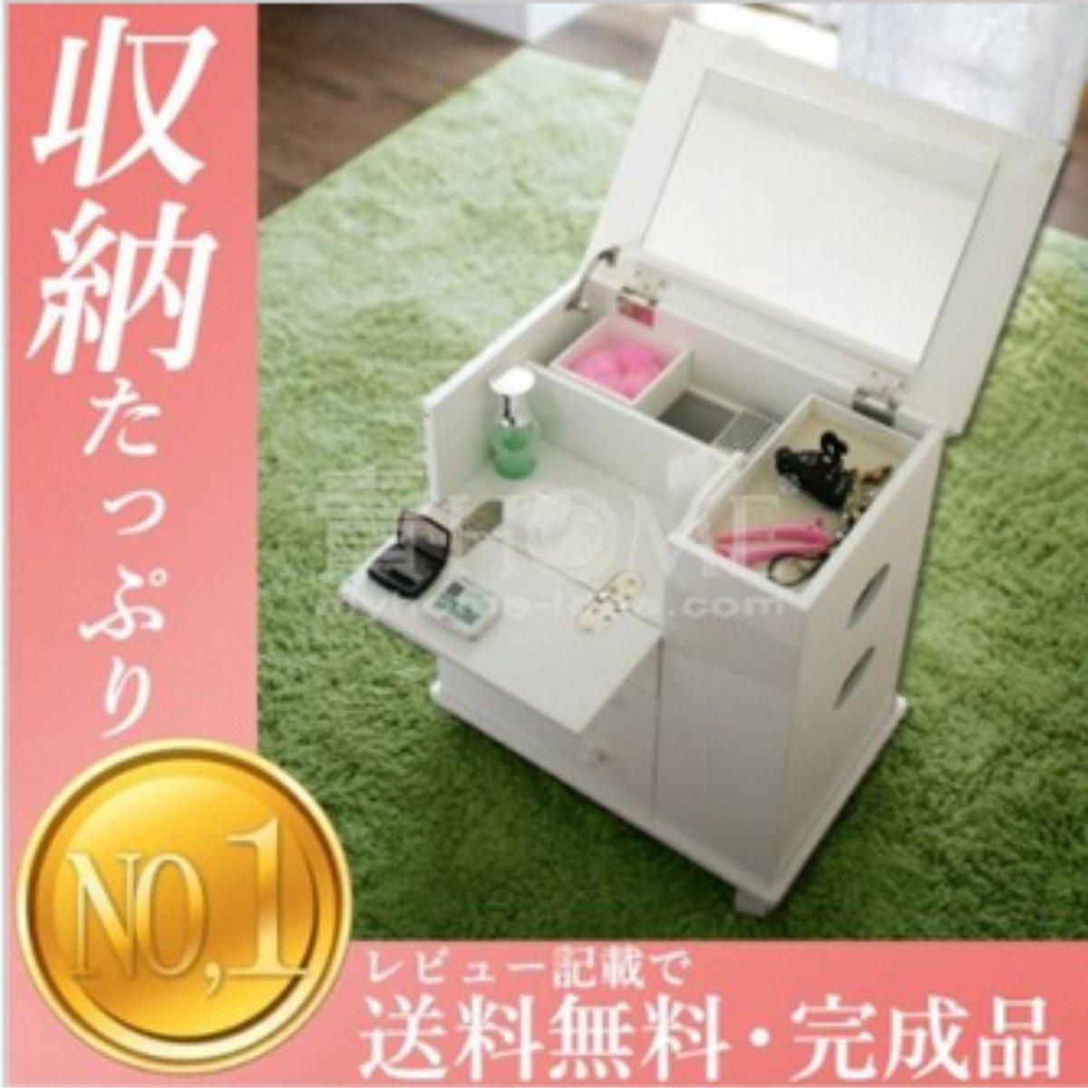 日本設計-木製移動梳妝車 (白色)