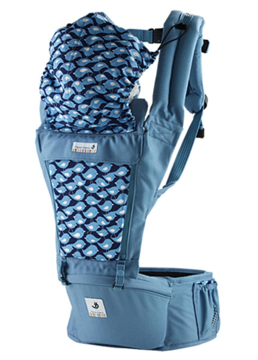 ORGA 100% 有機坐墊式孭帶 粉藍