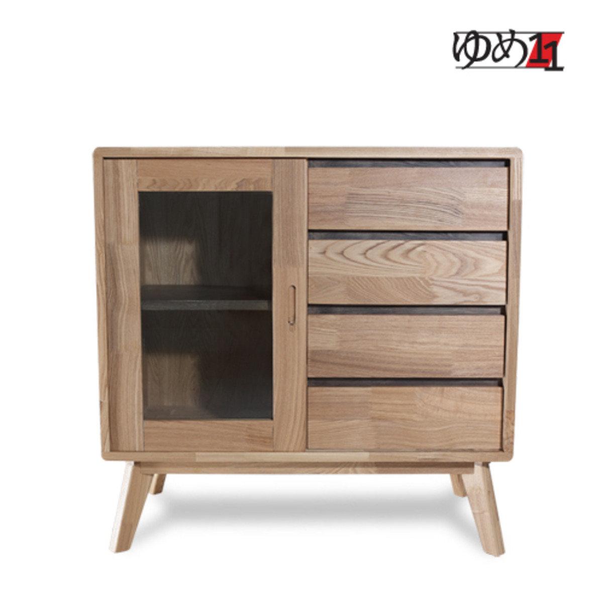 木製玻璃邊櫃