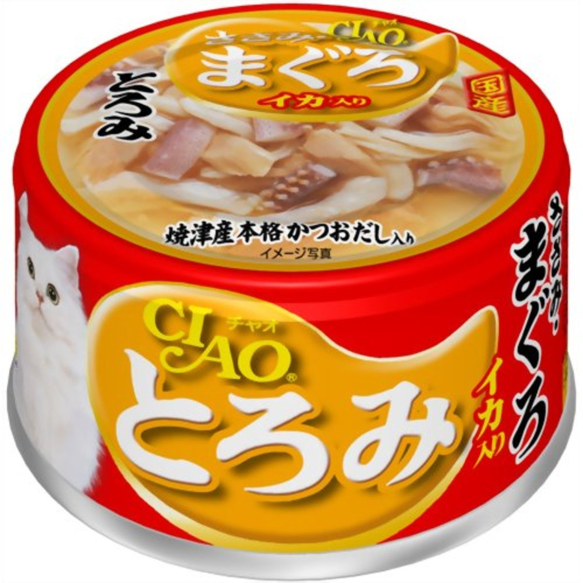 INABA CIAO 雞肉金槍魚魷魚 A-53 80g