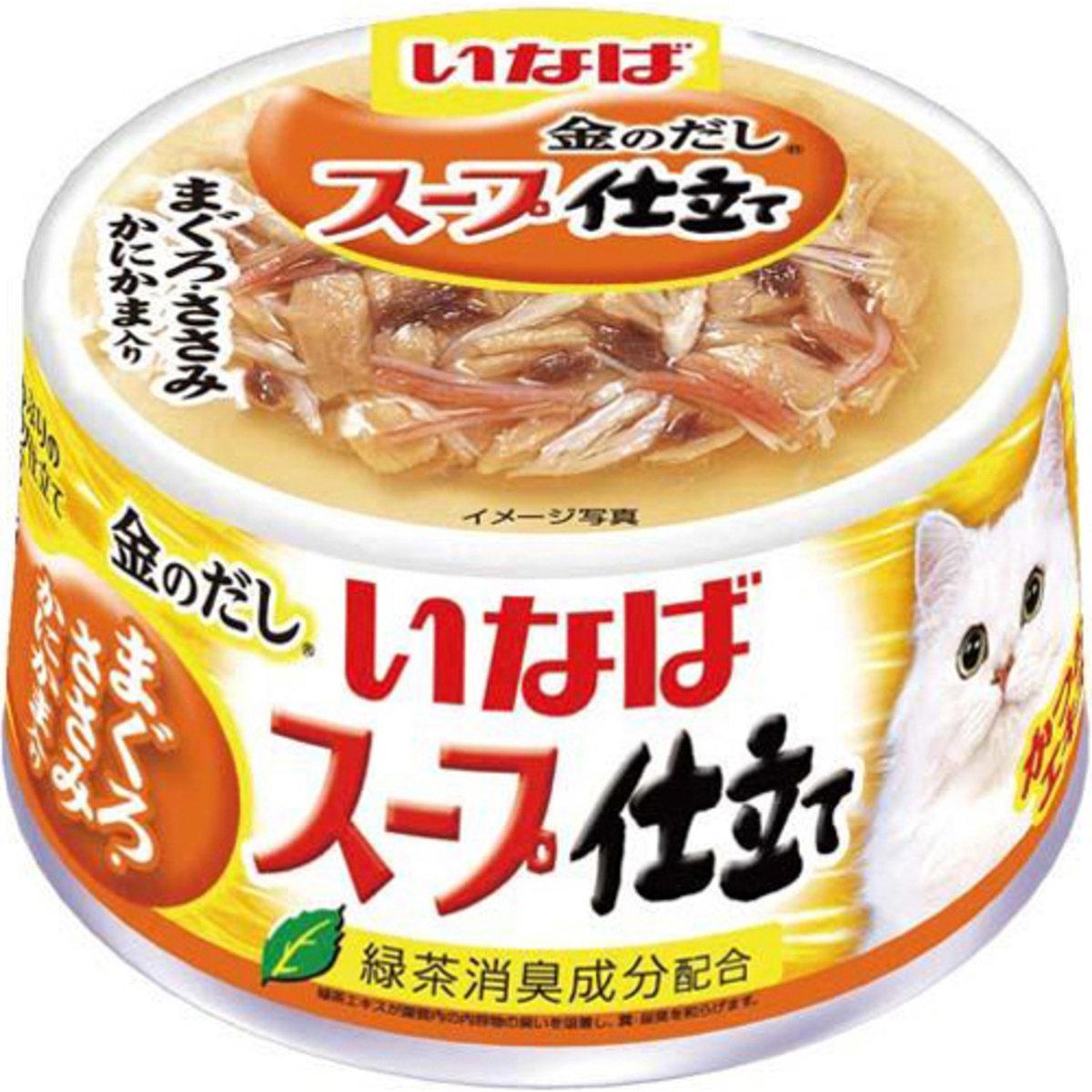 INABA 綠茶雞肉鰹魚鮪魚蟹柳 IM-233 80g