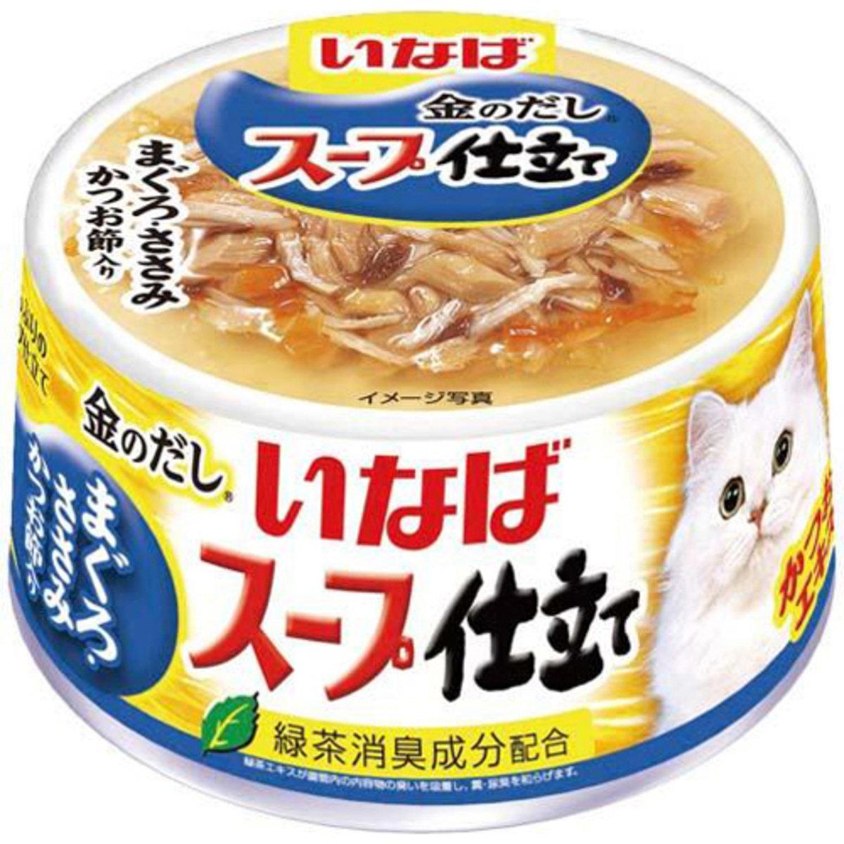 INABA 綠茶雞肉鰹魚金槍魚魚片 IM-234 80g