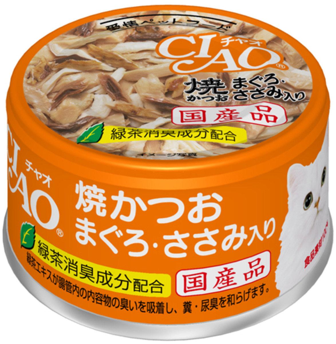 日本CIAO綠茶燒鰹魚雞肉金槍魚 A-18