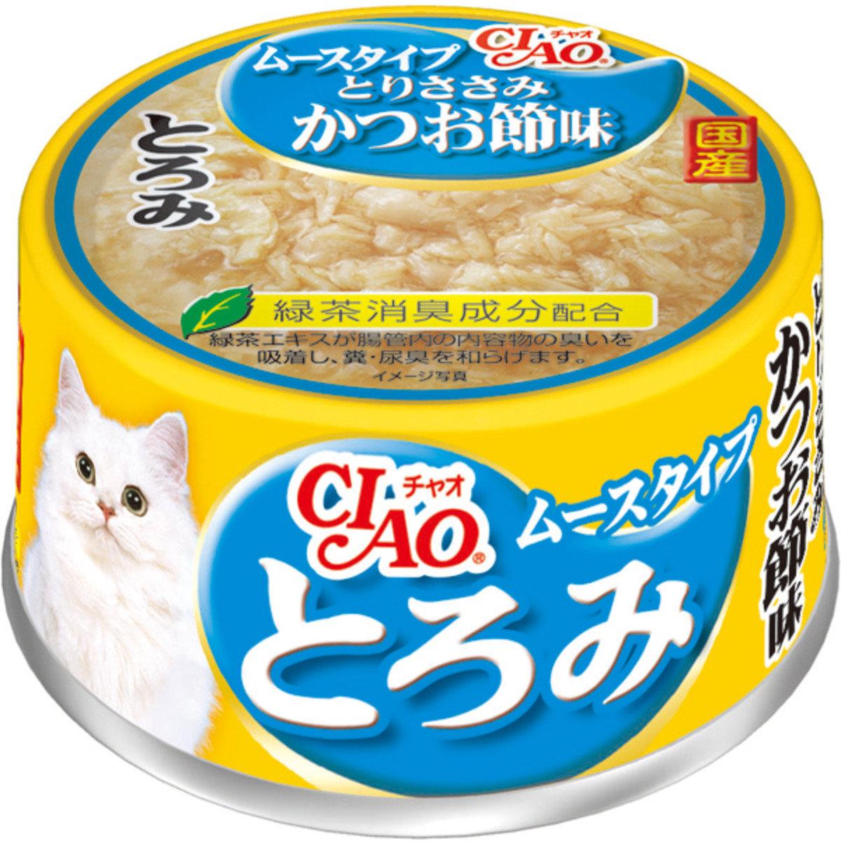 日本CIAO綠茶雞肉鰹魚柴魚摩絲 A-78