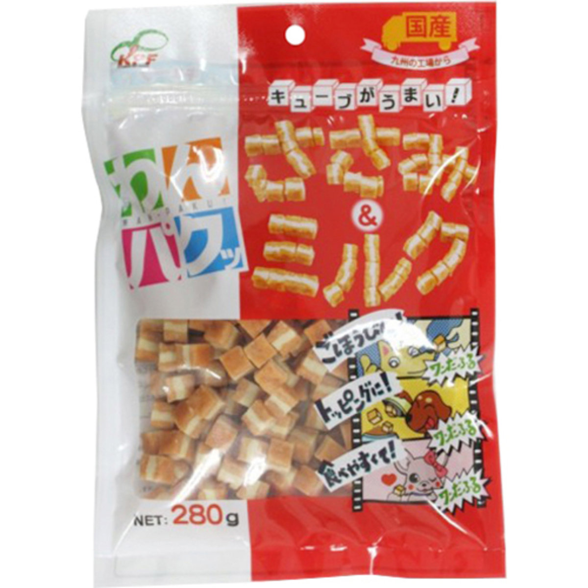 日本 KPF 牛奶雞肉方切粒 280g
