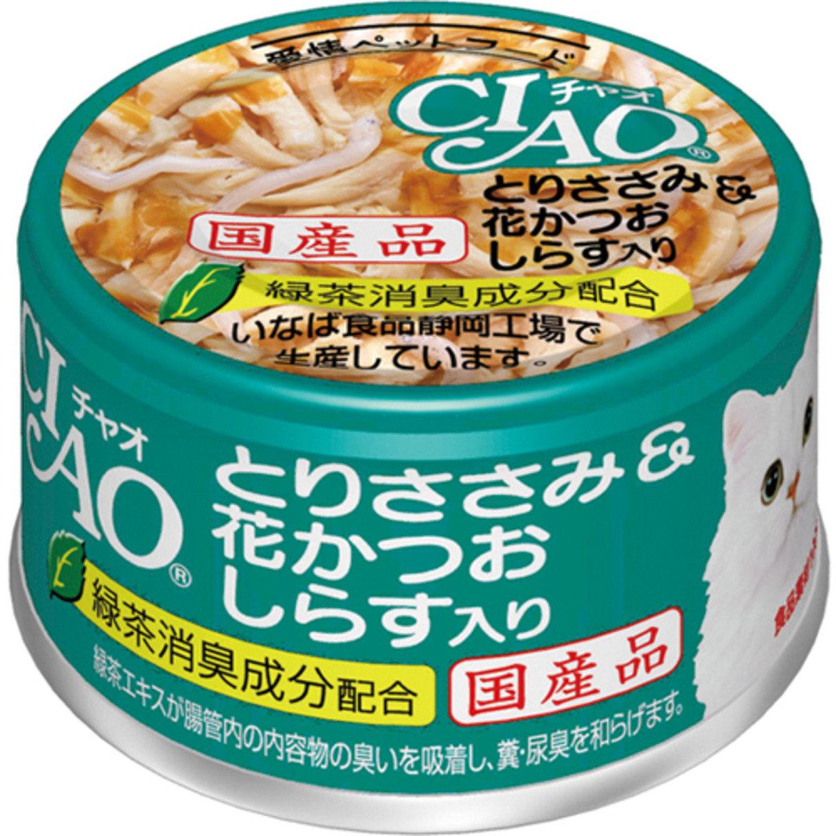 INABA 綠茶雞肉鰹魚銀魚 A-16 85g
