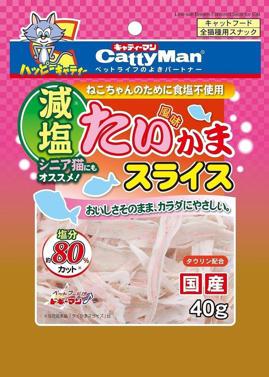 日本 CattyMan 減鹽鯛魚貝類魚絲 40g