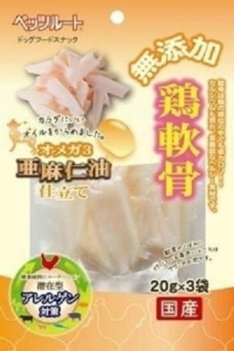 日本 PETZROUTE 亞麻仁油雞軟骨 20g x 3