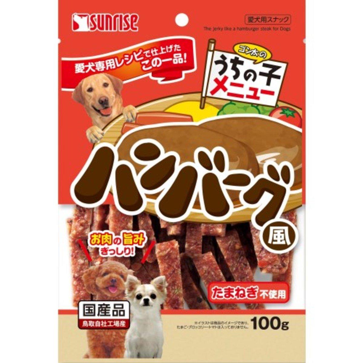日本 SUNRISE 漢堡牛豚野菜肉扒條 100g