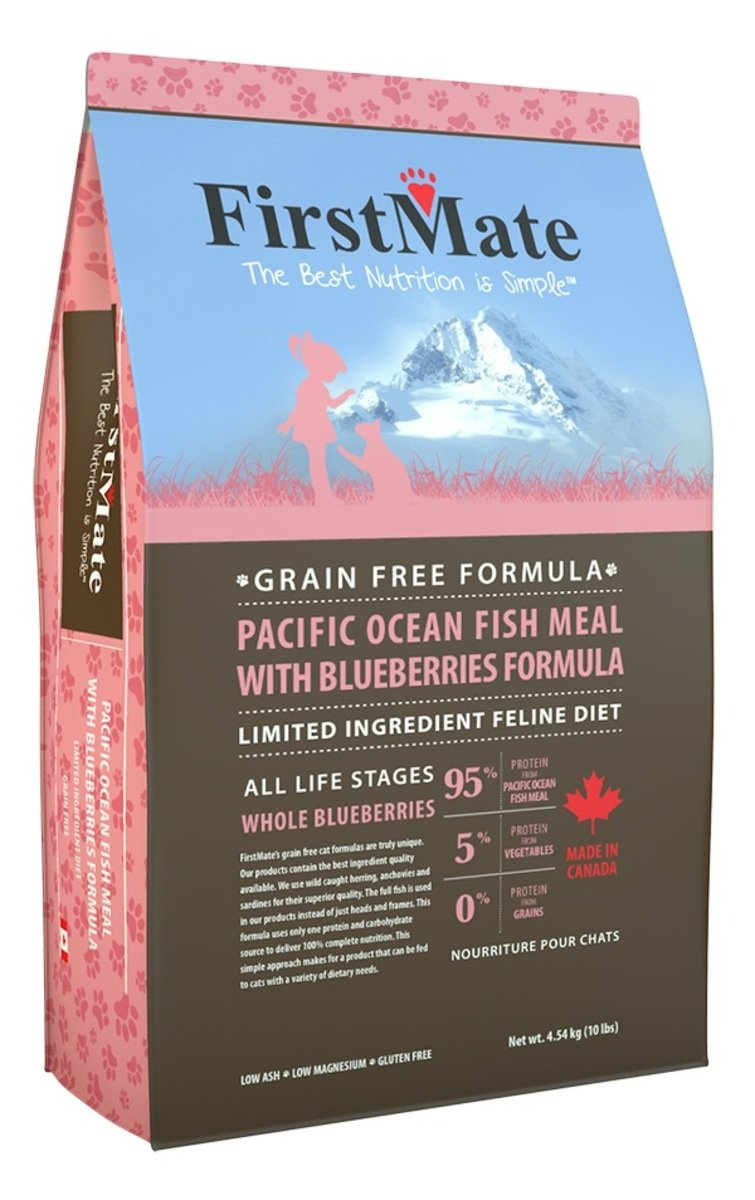 FirstMate 無穀物太平洋海魚藍莓配方全貓糧 10LB