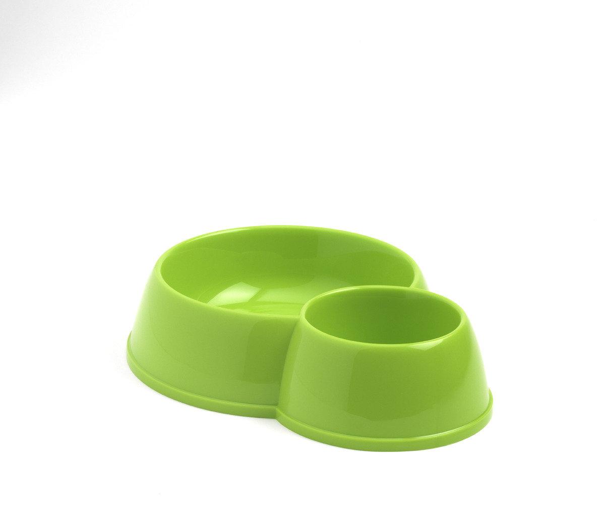 MODERNA Double Bowl  寵物碗 C153 - 蘋果綠色