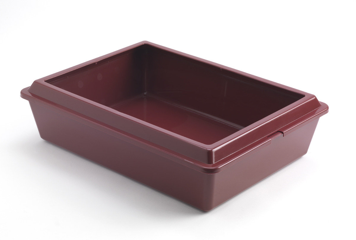 MODERNA Classic Tray Large 貓砂盆 -  深紅色