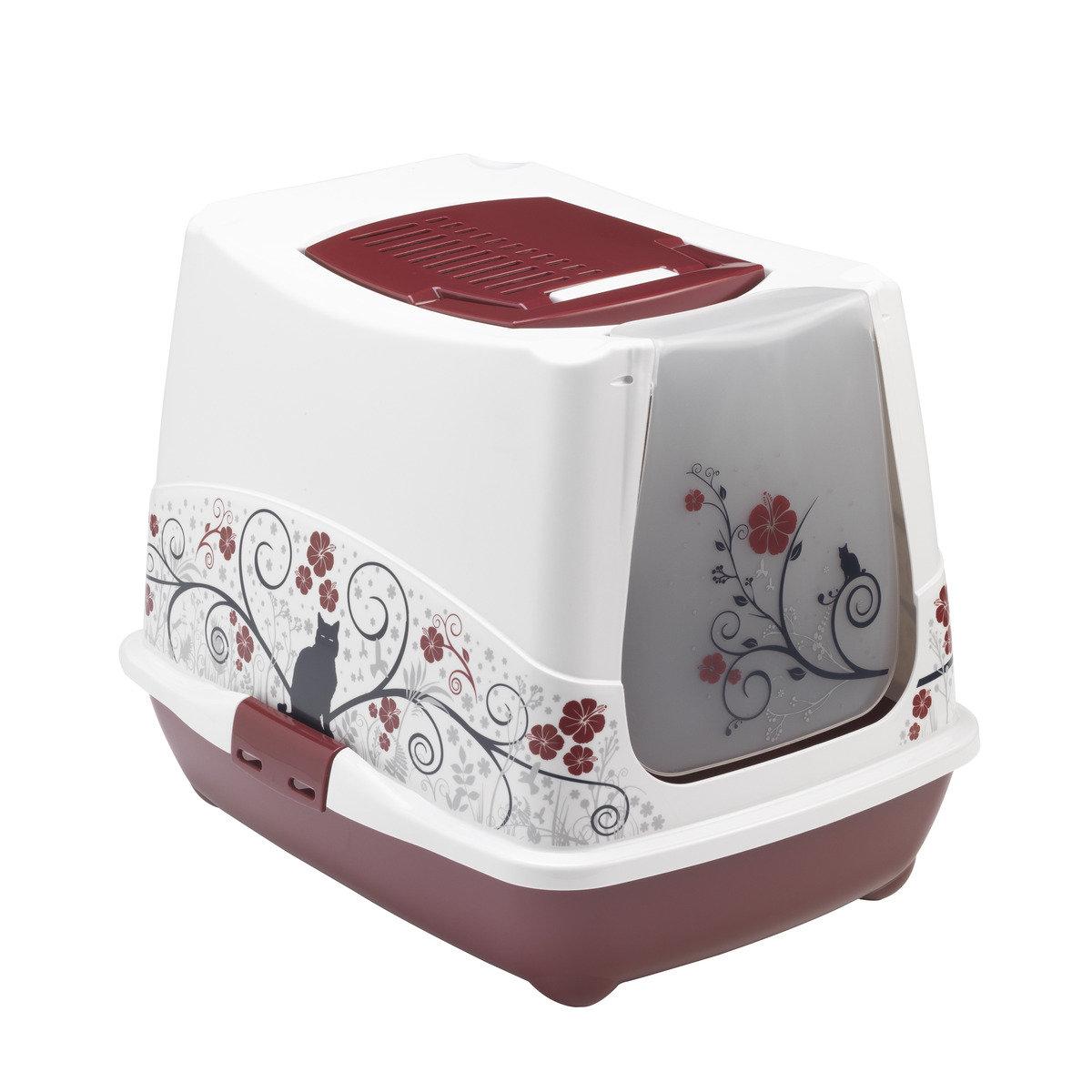 MODERNA Classic 有蓋貓砂盆 - 紅色