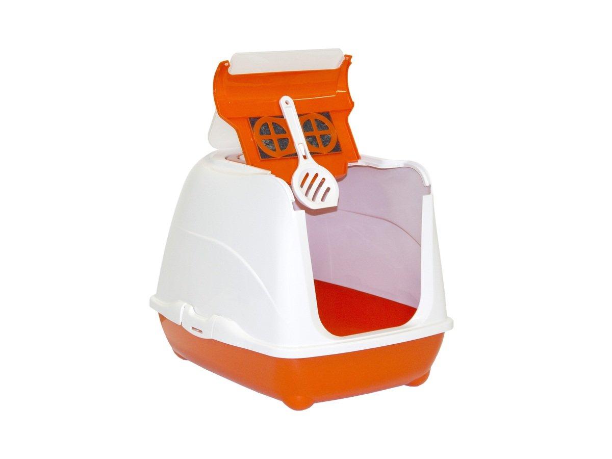 MODERNA FlipCat Large 有蓋貓砂盆 - 橙色