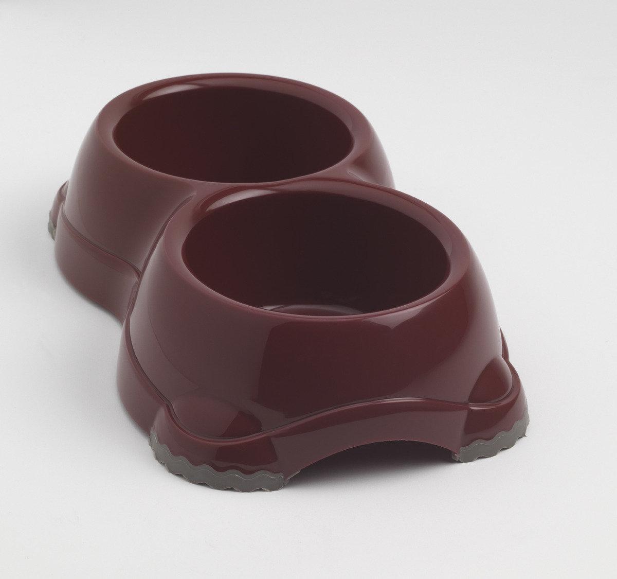 Double Smarty Bowl 寵物碗 H106 - 深紅色