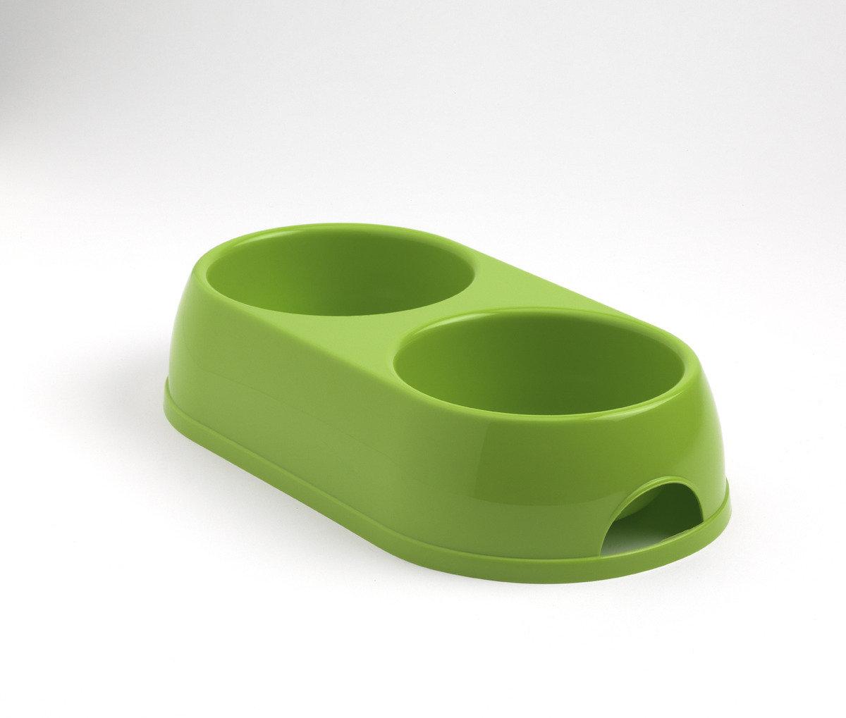 Double Bowl  寵物碗 H122 - 蘋果綠色