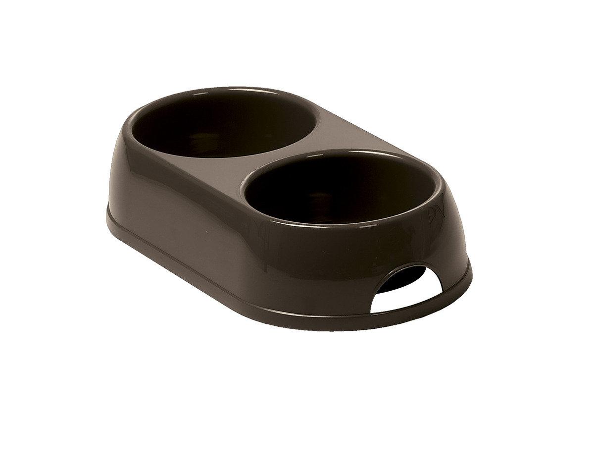 Double Bowl  寵物碗 H122 - 深啡色