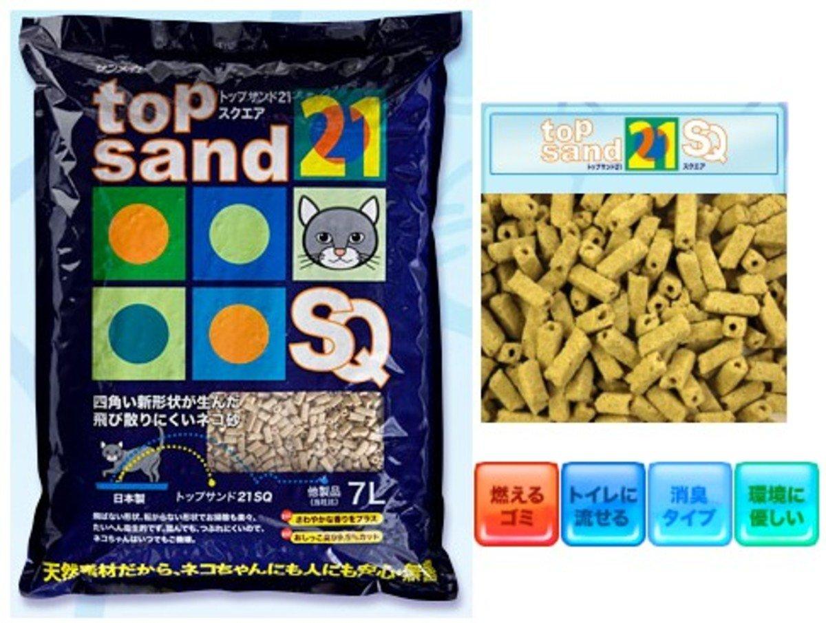 日本 SANMATE 方型通心豆腐砂 7L裝