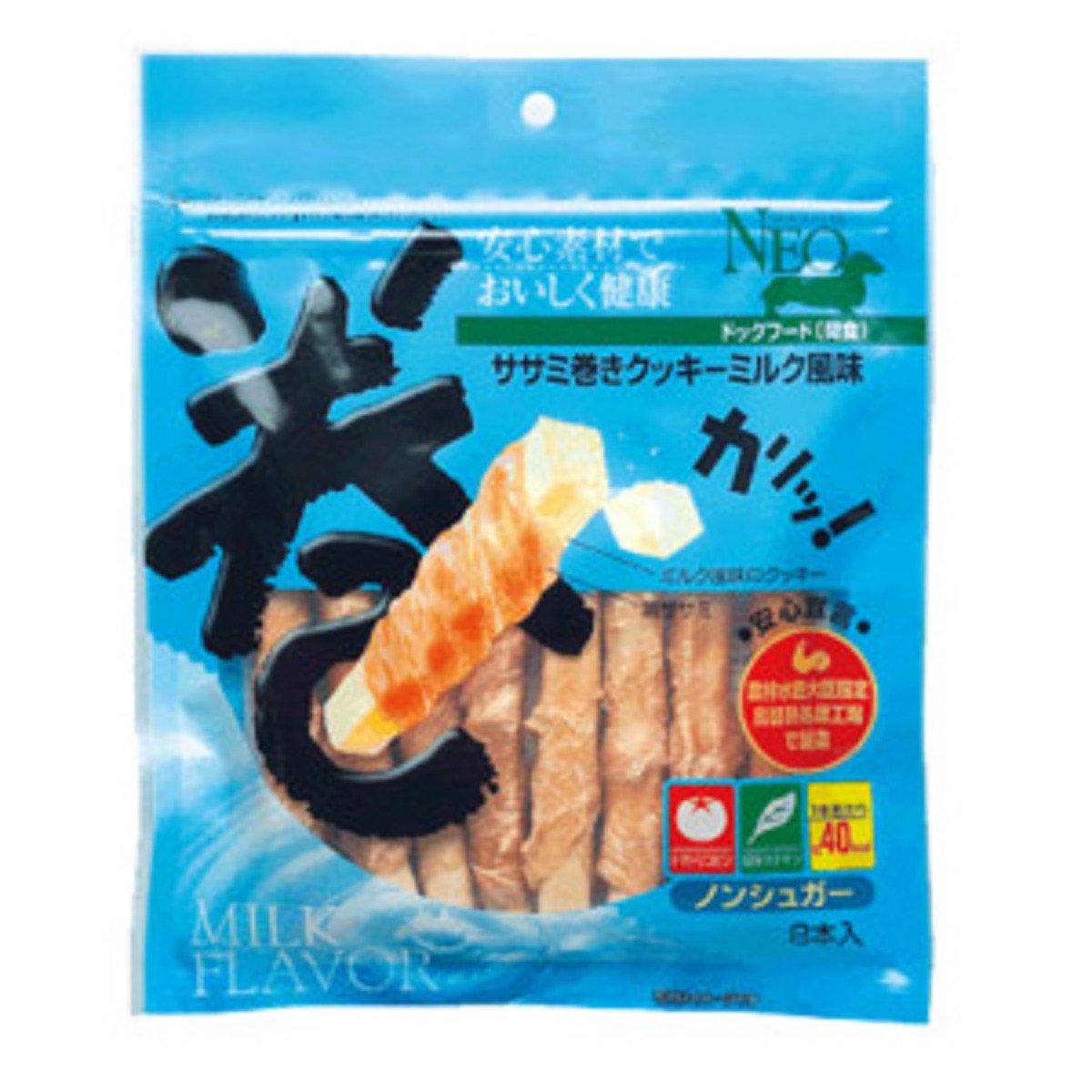 NEO 雞胸肉卷餅乾- 牛奶風味 8枝