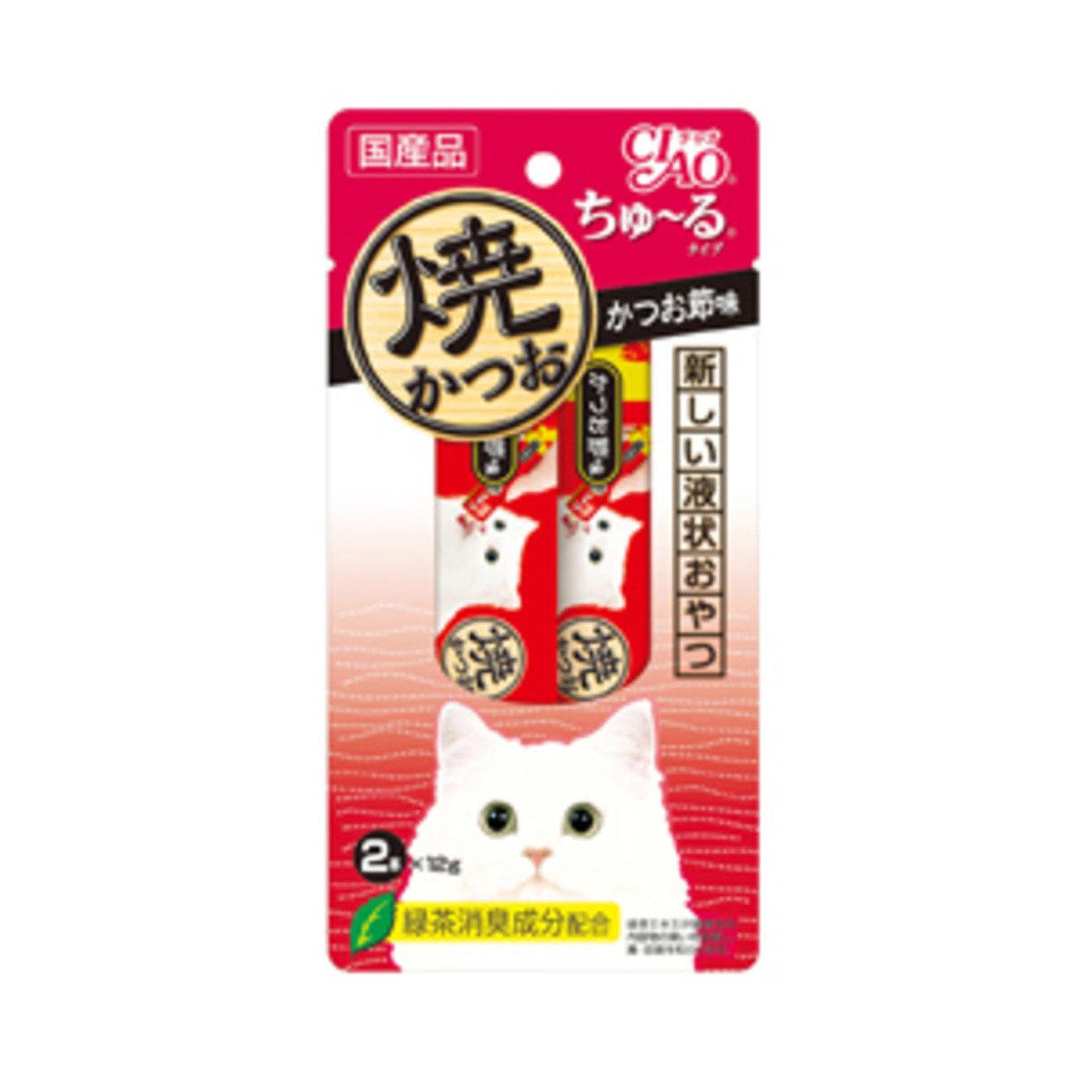 日本INABA綠茶烤鰹魚火鍋味濕糧 2R-104 (1包2本x12g)