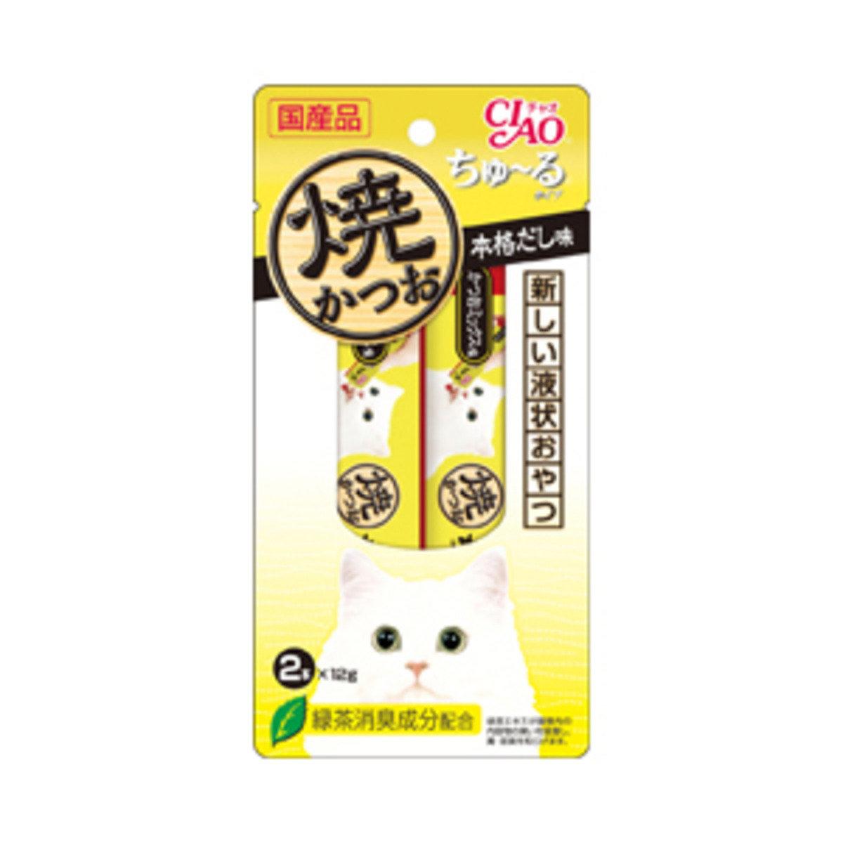日本INABA綠茶烤鰹魚湯味濕糧 2R-106 (1包2本x12g)