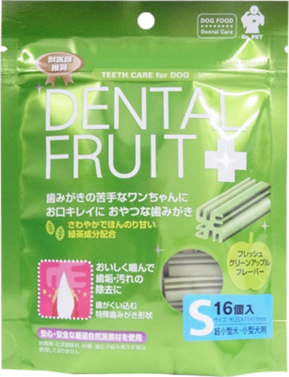 日本 SUPERCAT 蘋果味綠茶潔齒棒 16枝