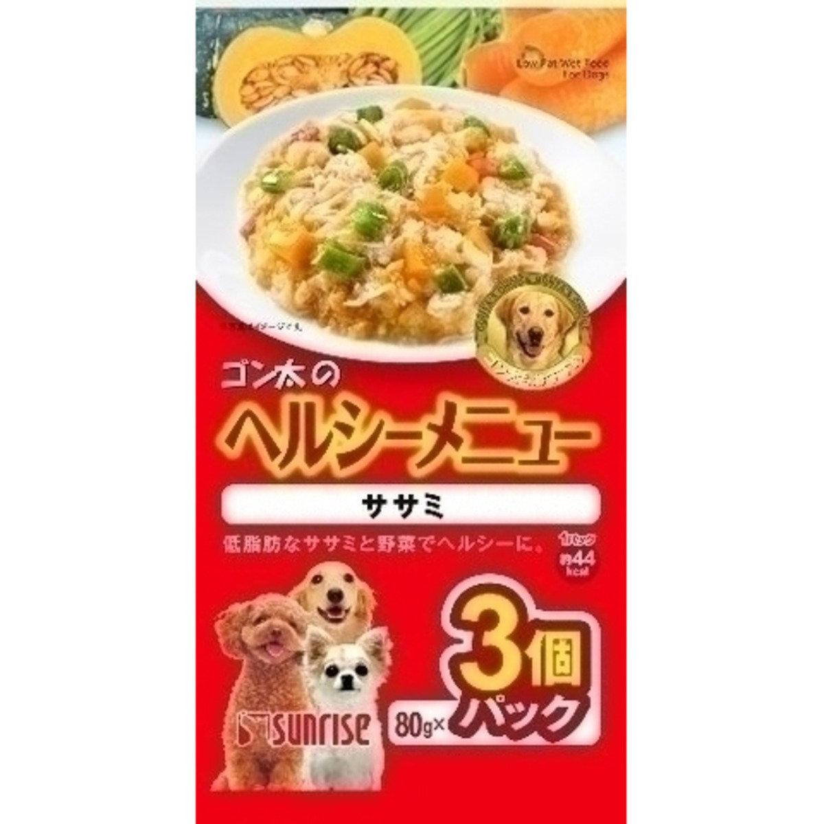 日本 SUNRISE 雞肉蔬菜濕糧 80g x 3