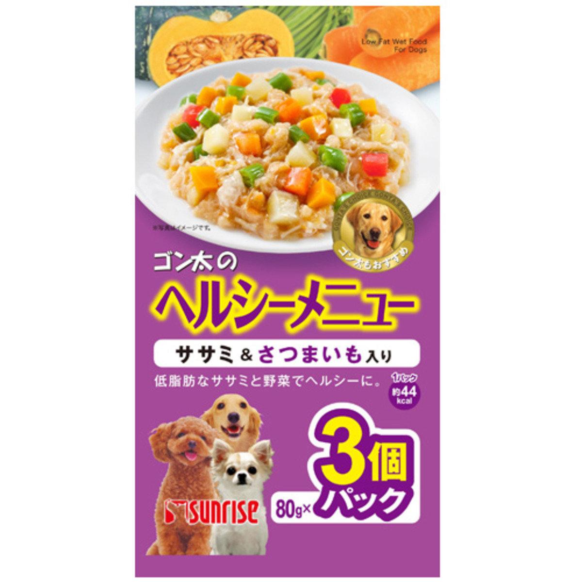 日本 SUNRISE 雞肉蔬菜甘藷濕糧 80g x 3