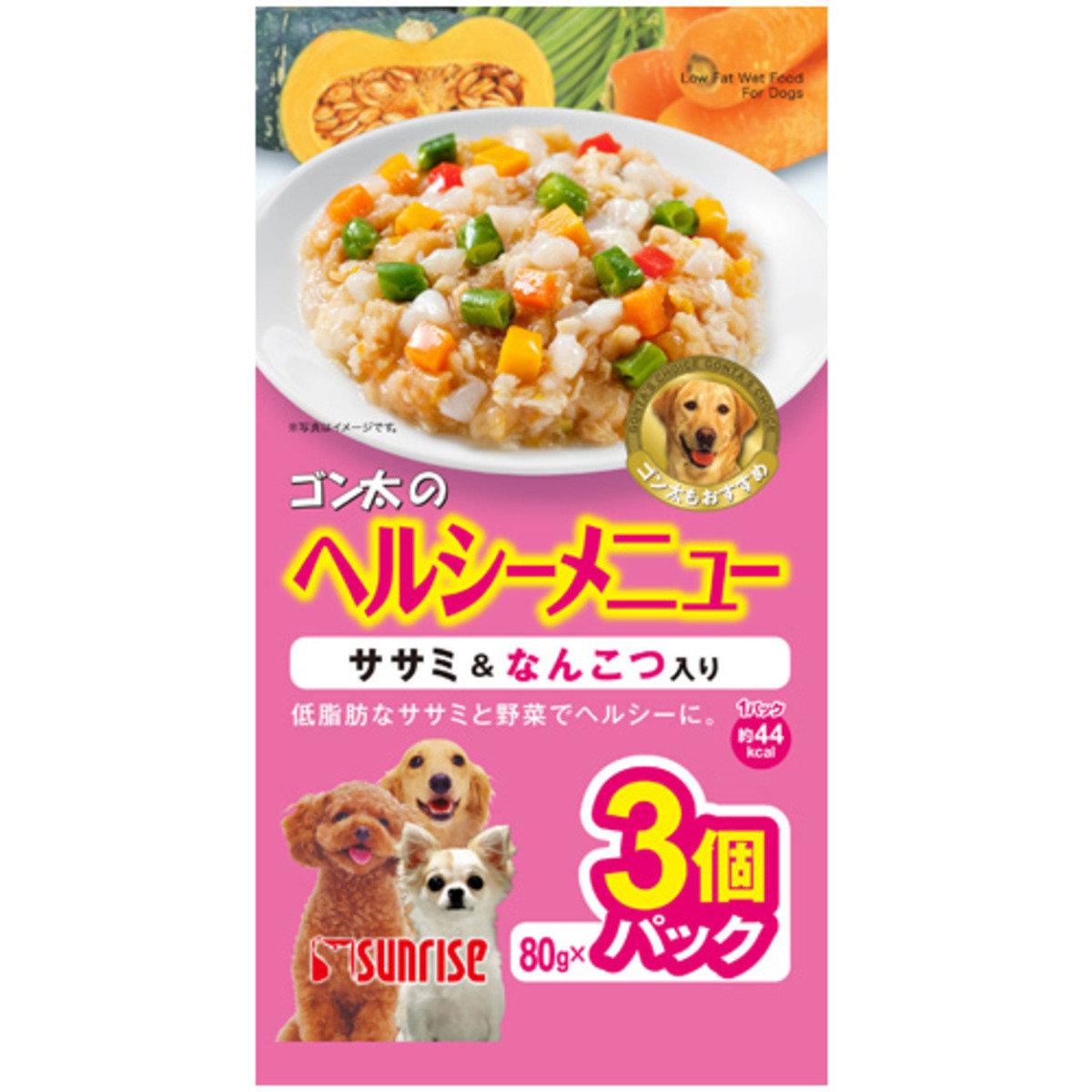 日本 SUNRISE 雞肉蔬菜軟骨濕糧 80g x 3