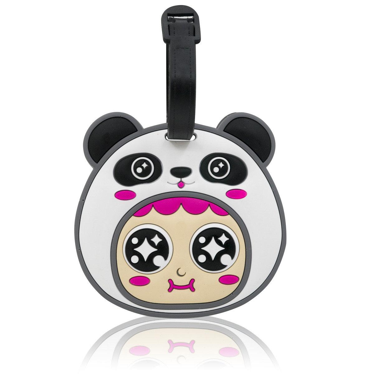 QQ不倒翁行李牌 - 熊貓