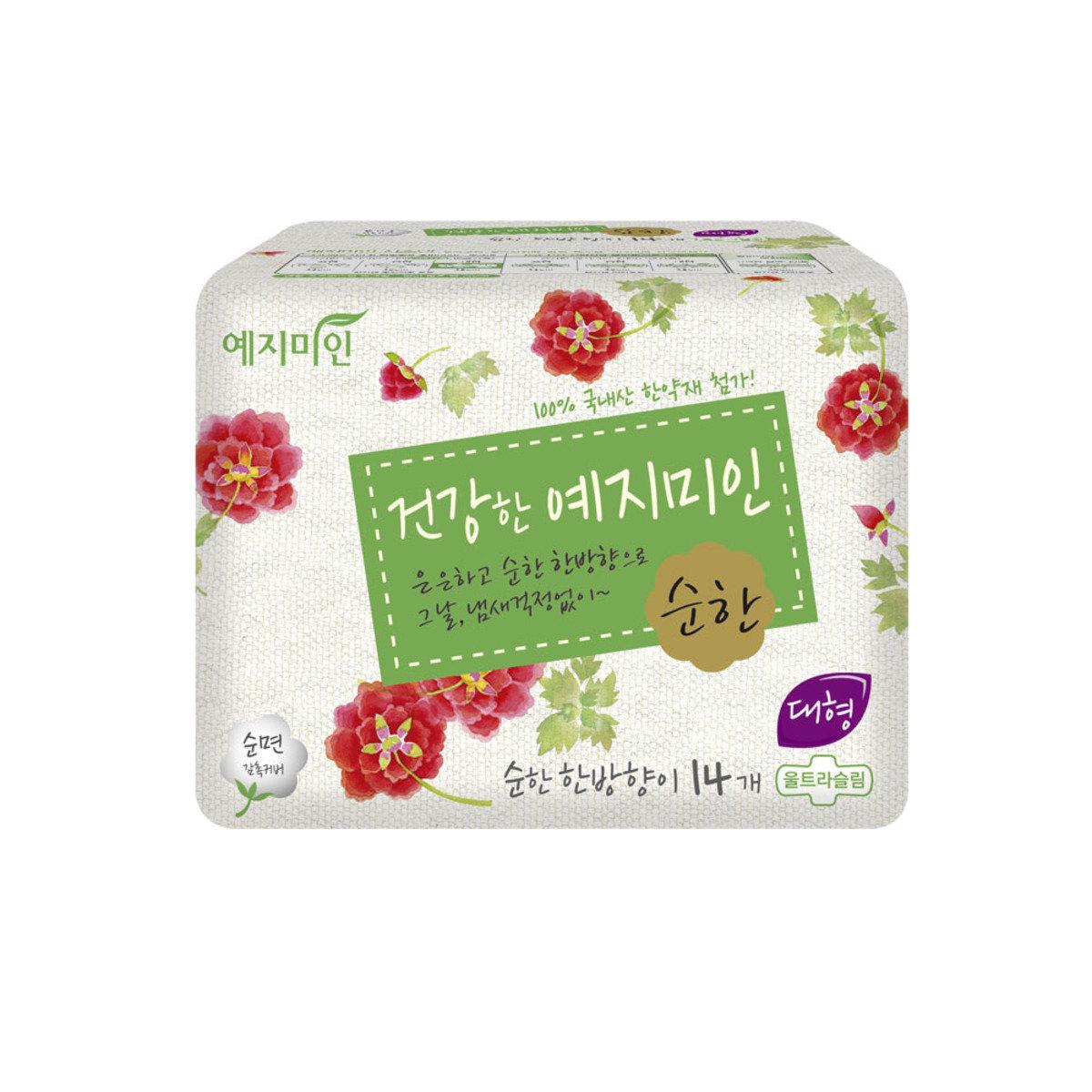 韓國漢方衛生巾 - 棉柔淡香 28CM 14片裝