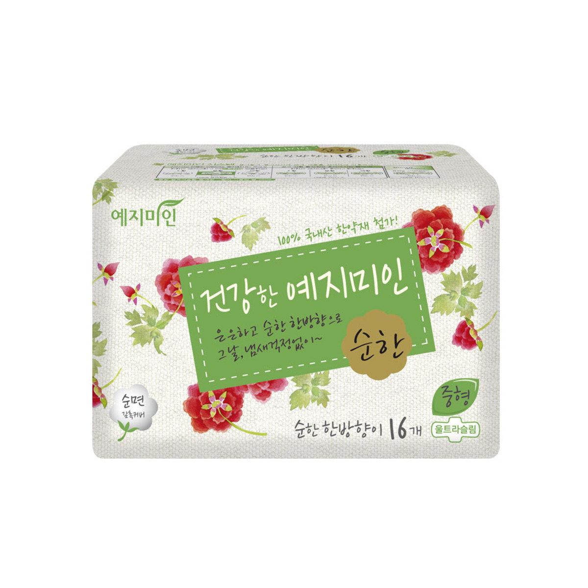 韓國漢方衛生巾 - 棉柔淡香 23CM 16片裝