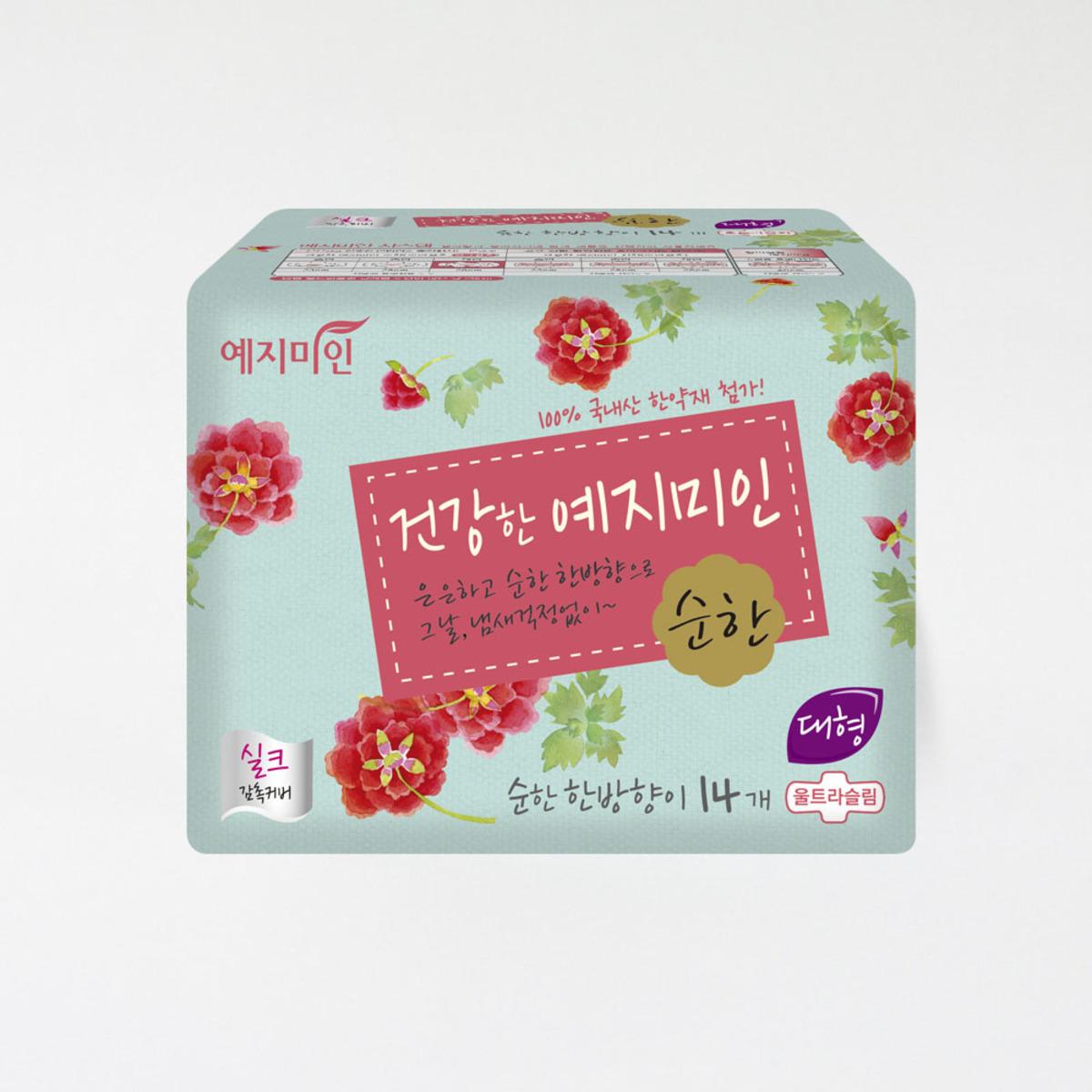韓國漢方衛生巾 - 絲綢淡香 28CM 14片裝