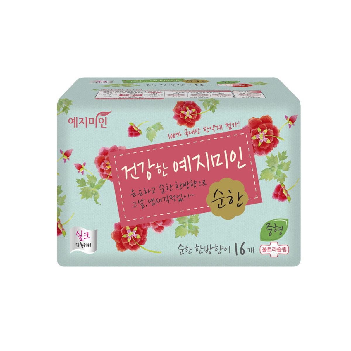 韓國漢方衛生巾 - 絲綢淡香 25CM 16片裝