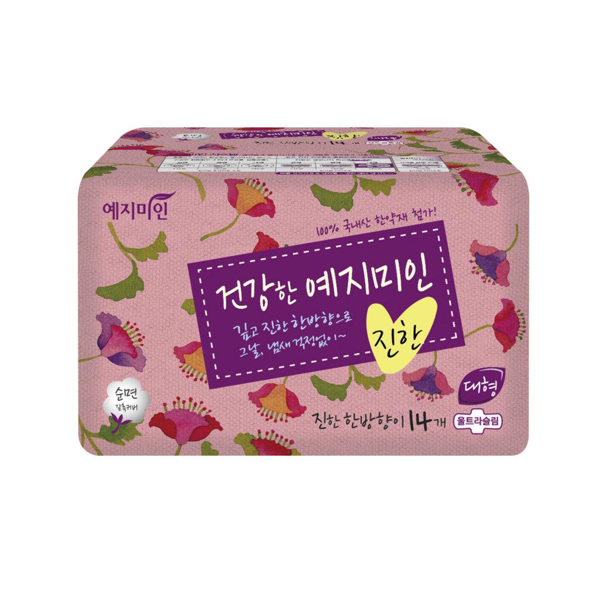 韓國漢方衛生巾 - 棉柔純香 28CM 14片裝