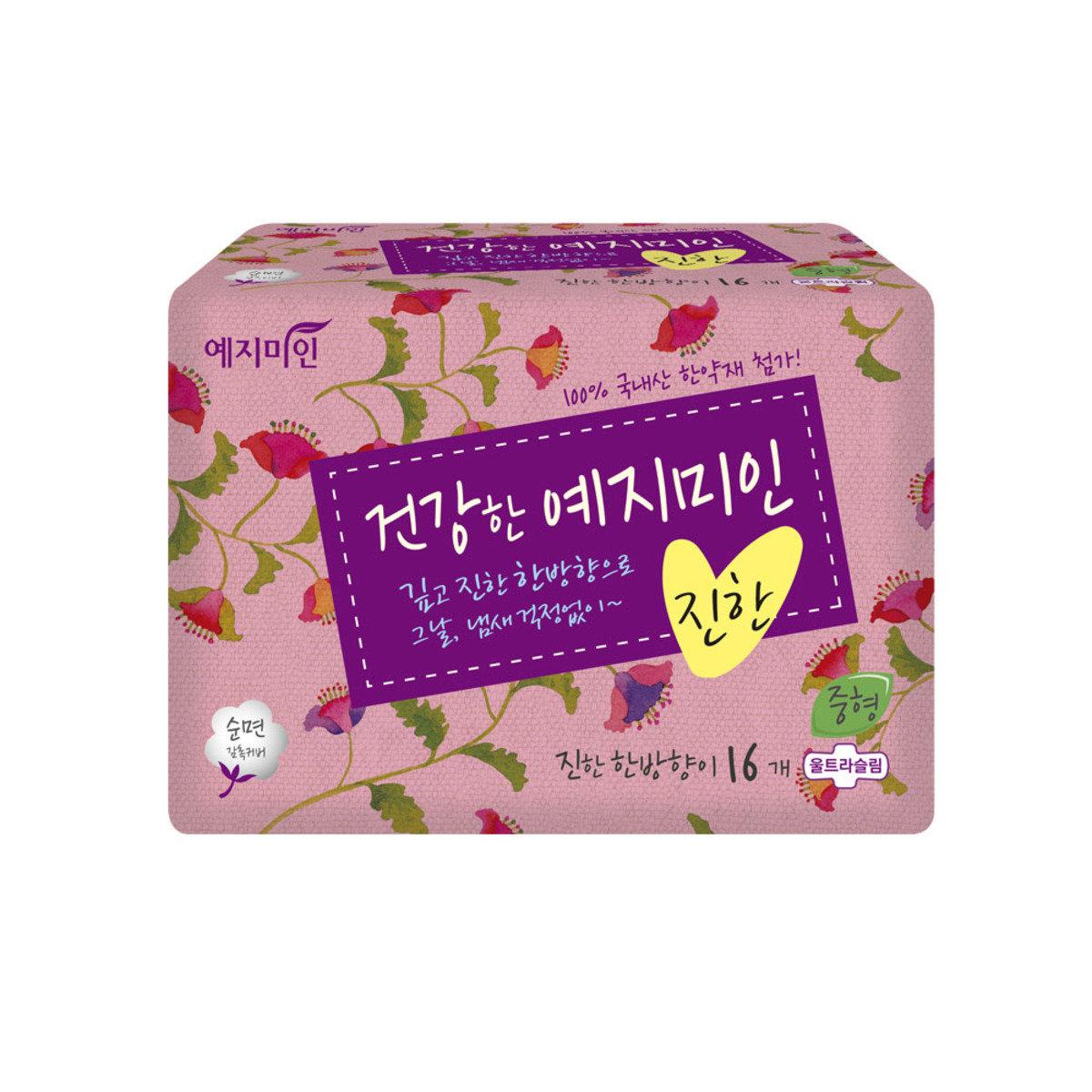 韓國漢方衛生巾 - 棉柔純香 25CM 16片裝