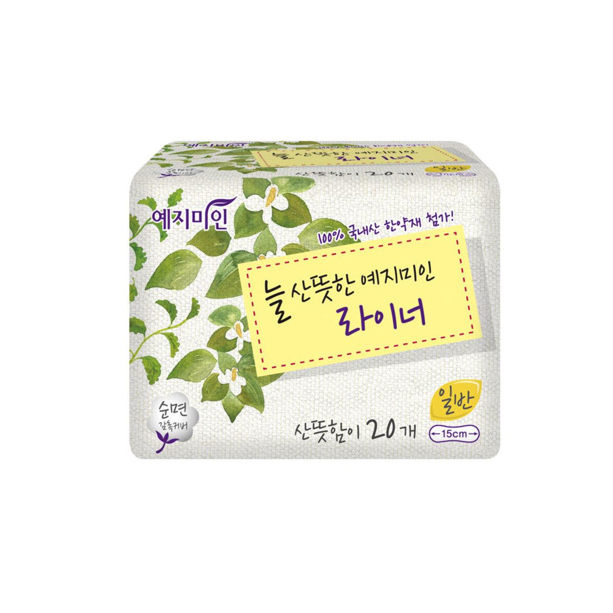 韓國漢方護墊 - 棉柔淡香 15CM 20片裝