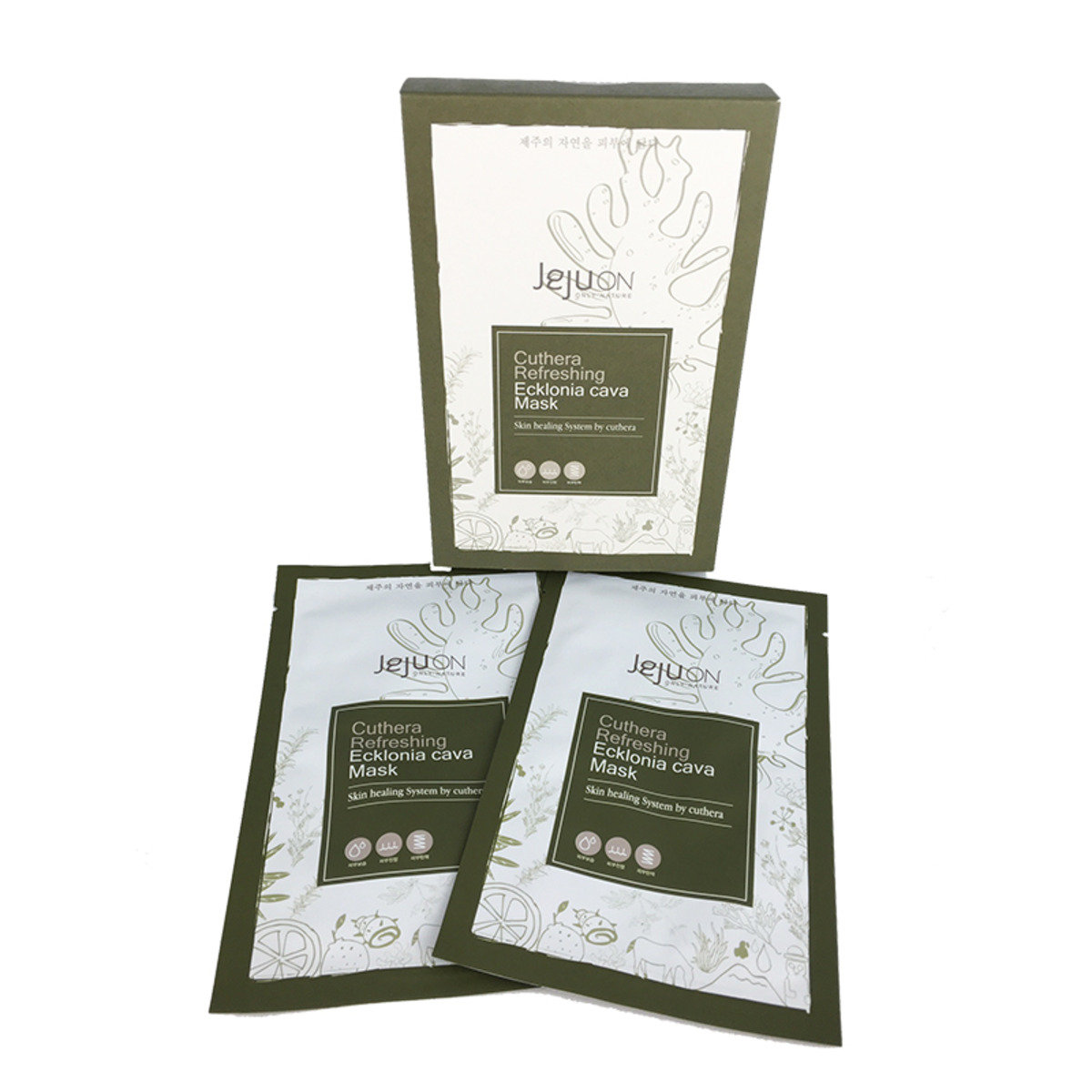 鬱金煥顏滋潤 - 深海褐藻再生修復面膜 (1盒6片裝)