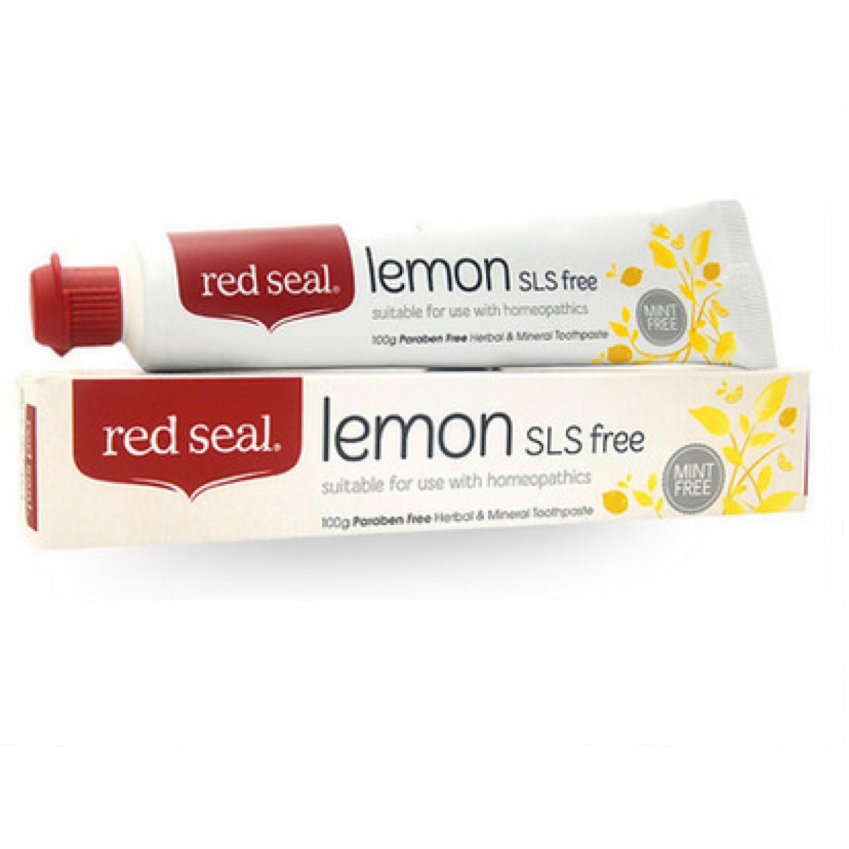 紅印天然檸檬牙膏
