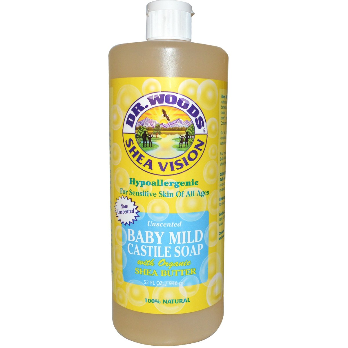 全天然嬰兒溫和皂液(含有機乳木果油)