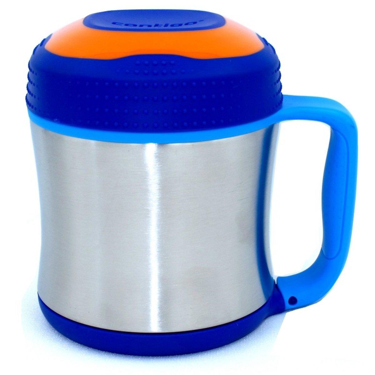 兒童食物杯 (不銹鋼j真空)-寶藍色