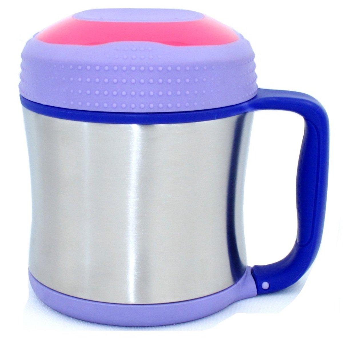兒童食物杯 (不銹鋼j真空)-紫藤花色