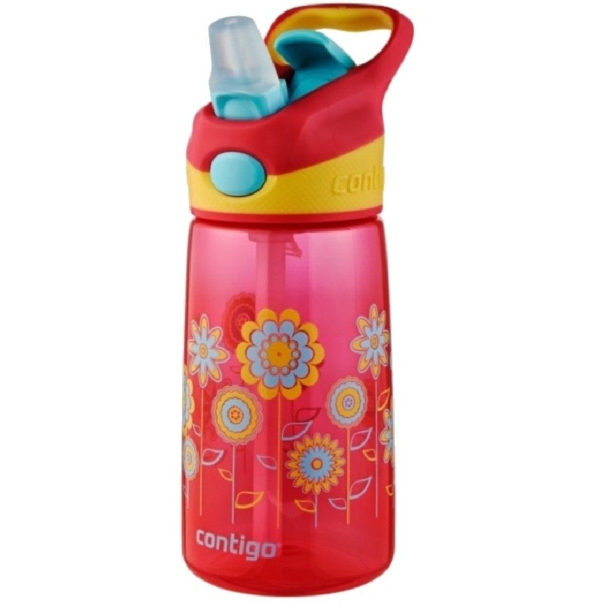Striker 兒童自動吸管杯 - 花兒朵朵