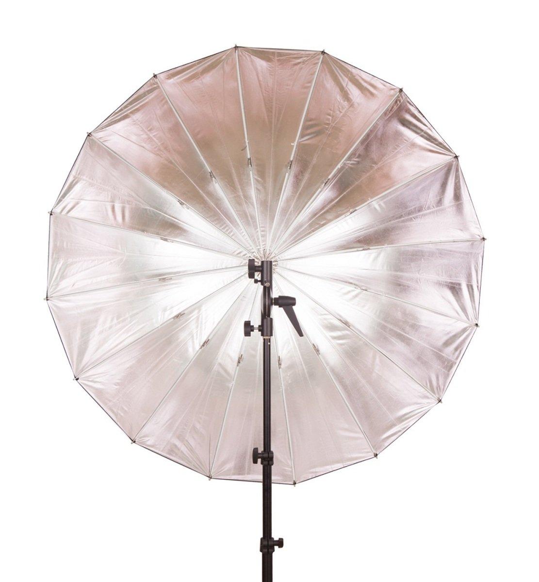 F-402 玻璃纖維40吋黑色/銀色反光傘
