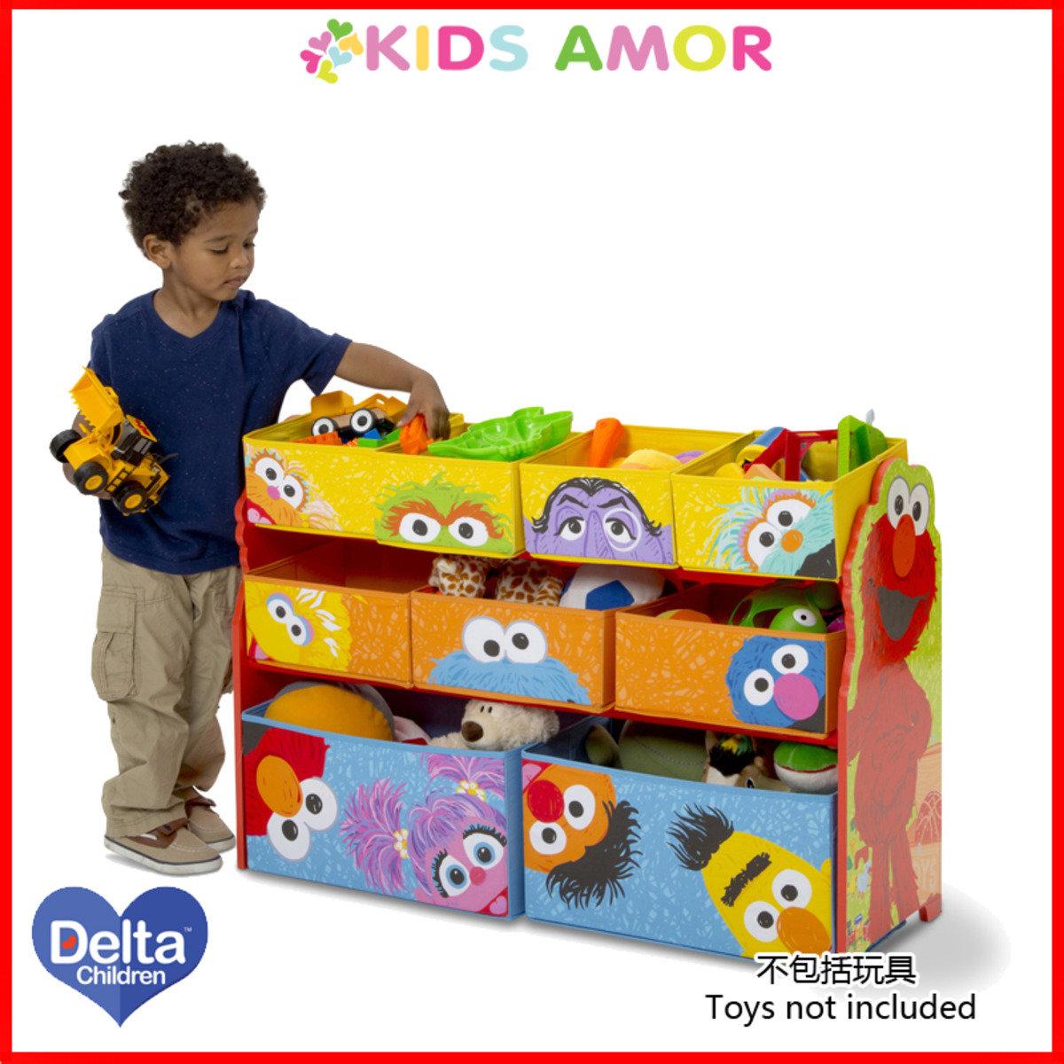美國Delta芝麻街特大玩具收納架