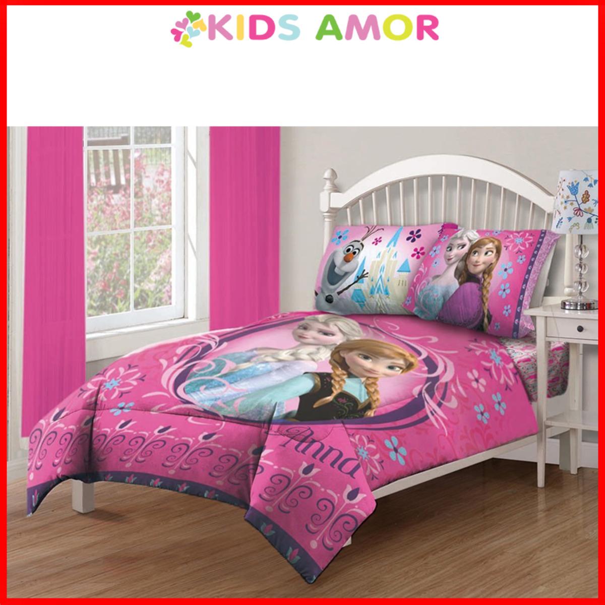 期間限定!迪士尼魔雪奇緣床笠+冷氣被+枕頭套 - 單人尺寸