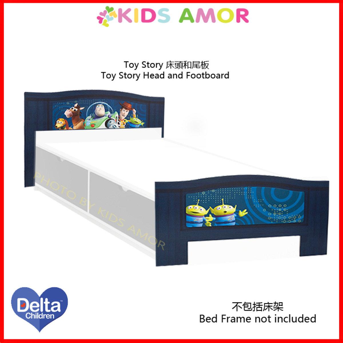 迪士尼反斗奇兵 Toy Story 床頭板和床尾板 (適合3'x6'單人床架)