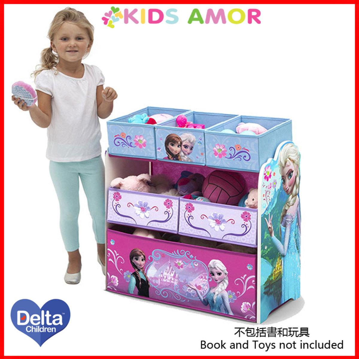 美國Delta迪士尼魔雪奇緣玩具收納架