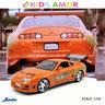 狂野時速 1/24 合金車Fast and the Furious,豐田 TOYOTA SUPRA  - 橙色