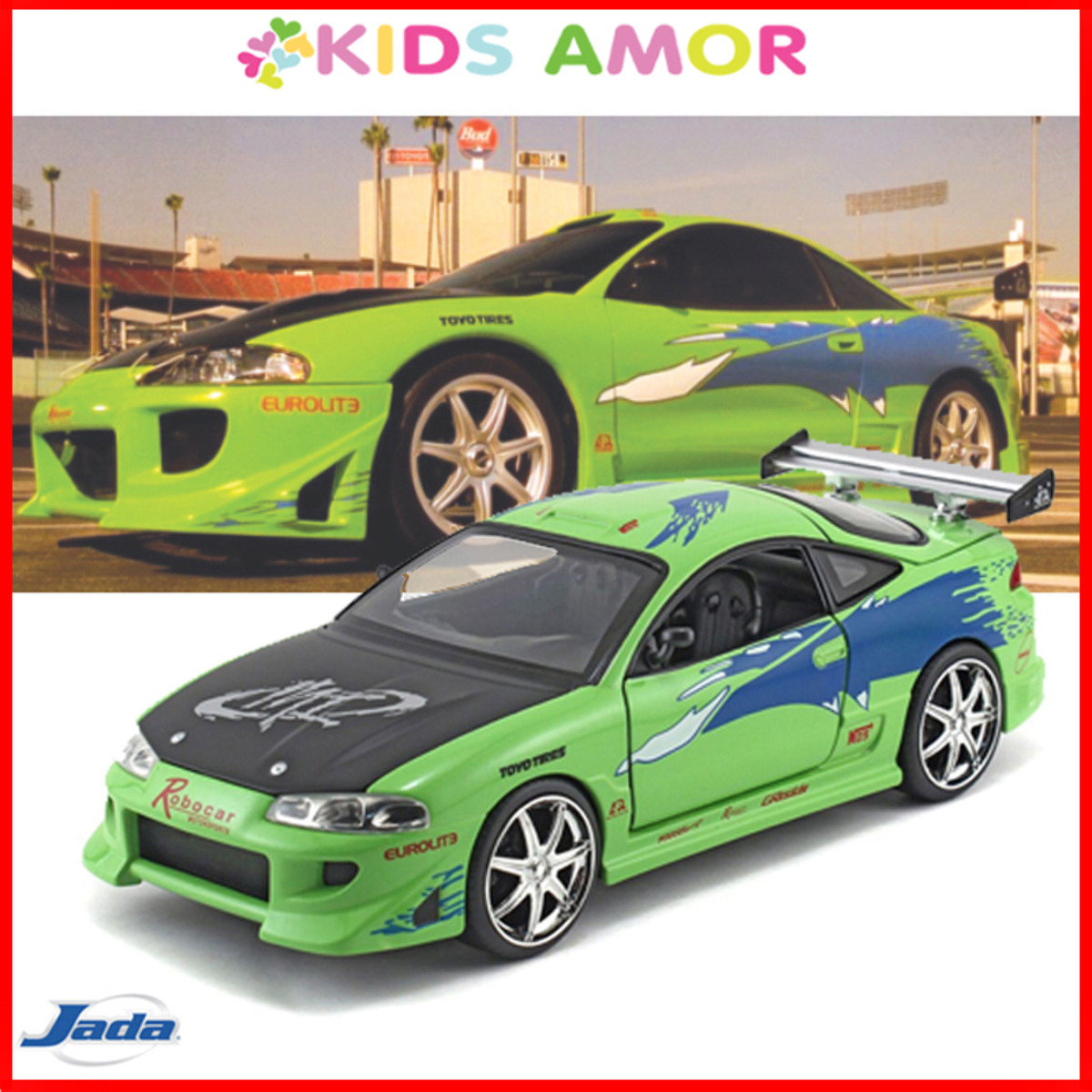 狂野時速 1/24 合金車Fast and the Furious,三菱ECLIPSE